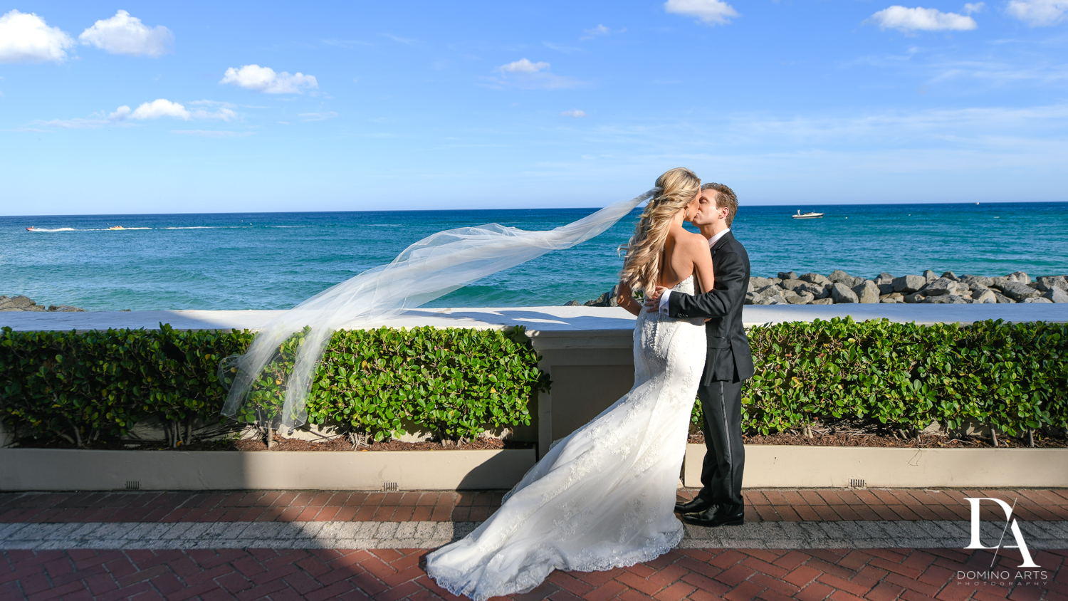 Beachside at Extravagant Wedding at The Breakers Palm Beach by Domino Arts Photography