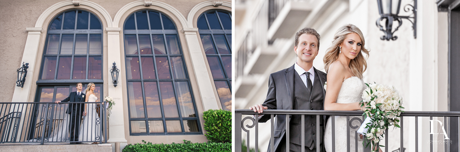 balcony photos at Extravagant Wedding at The Breakers Palm Beach by Domino Arts Photography
