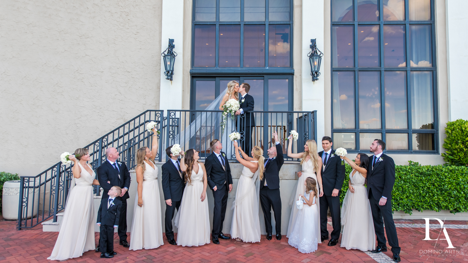 bridal party at Extravagant Wedding at The Breakers Palm Beach by Domino Arts Photography