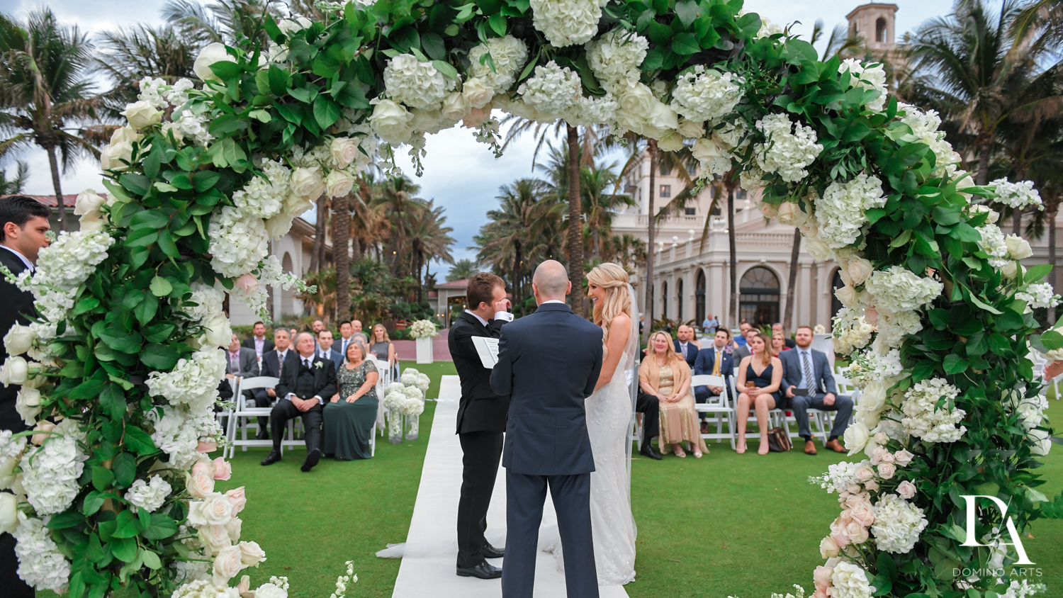 perfect wedding at Extravagant Wedding at The Breakers Palm Beach by Domino Arts Photography