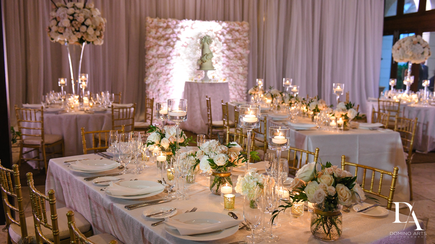 amazing room decor at Extravagant Wedding at The Breakers Palm Beach by Domino Arts Photography