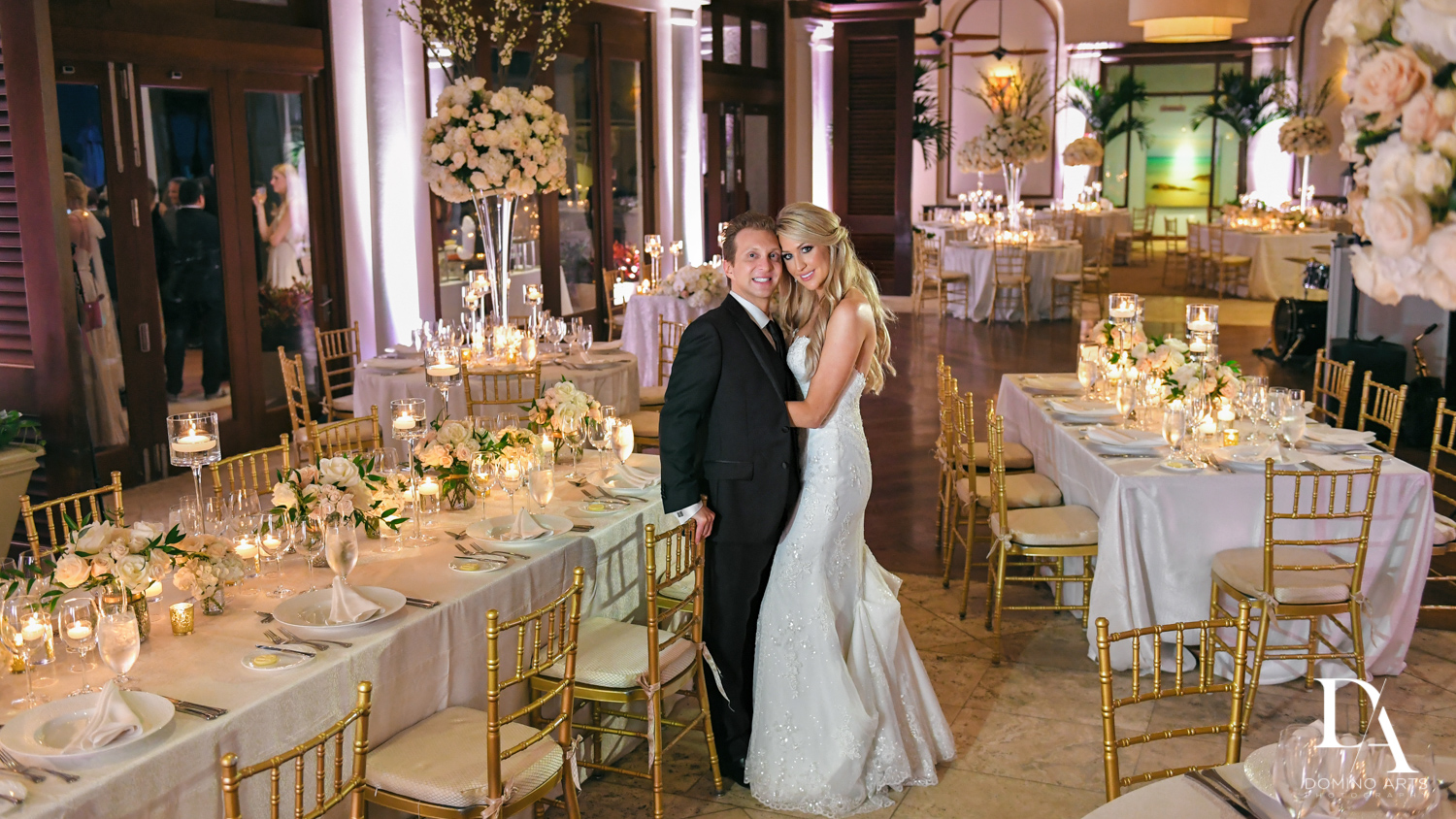 wedding decor at Extravagant Wedding at The Breakers Palm Beach by Domino Arts Photography