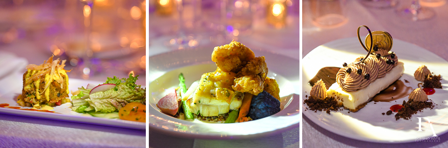 best catering at Extravagant Wedding at The Breakers Palm Beach by Domino Arts Photography
