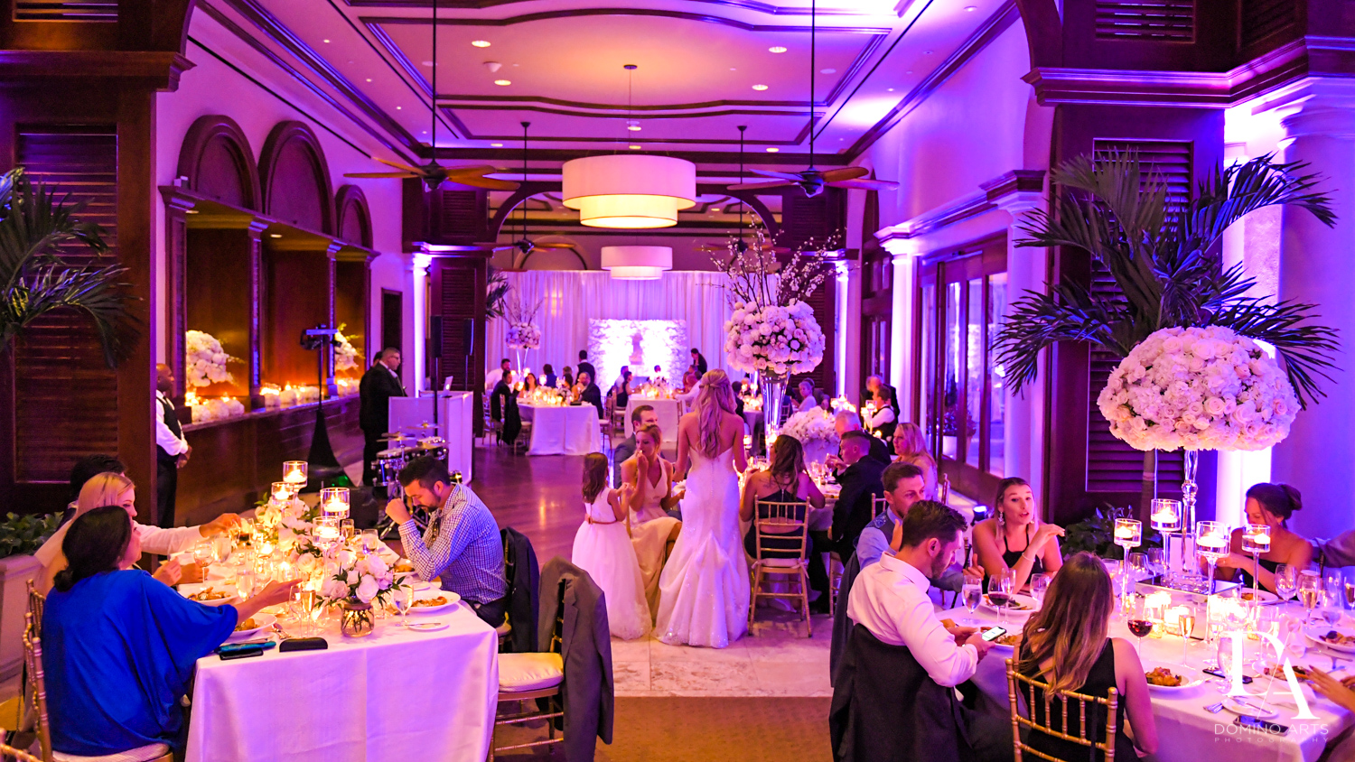 party at Extravagant Wedding at The Breakers Palm Beach by Domino Arts Photography