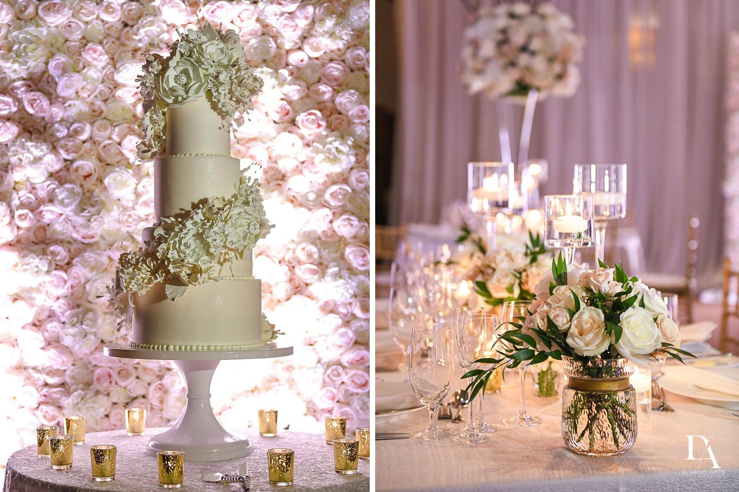 beautiful florals at Extravagant Wedding at The Breakers Palm Beach by Domino Arts Photography
