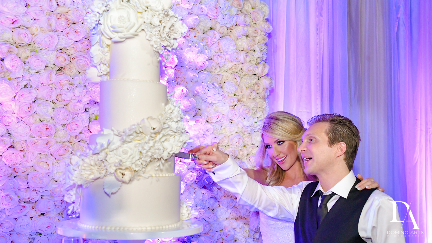 best wedding cake at Extravagant Wedding at The Breakers Palm Beach by Domino Arts Photography