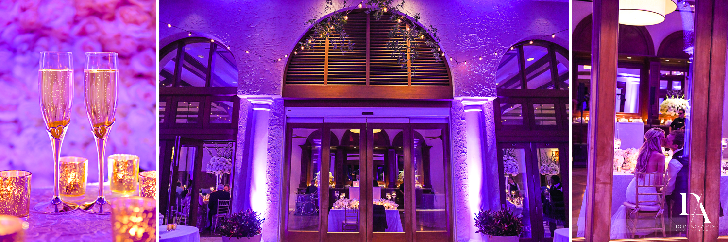 best lighting at Extravagant Wedding at The Breakers Palm Beach by Domino Arts Photography