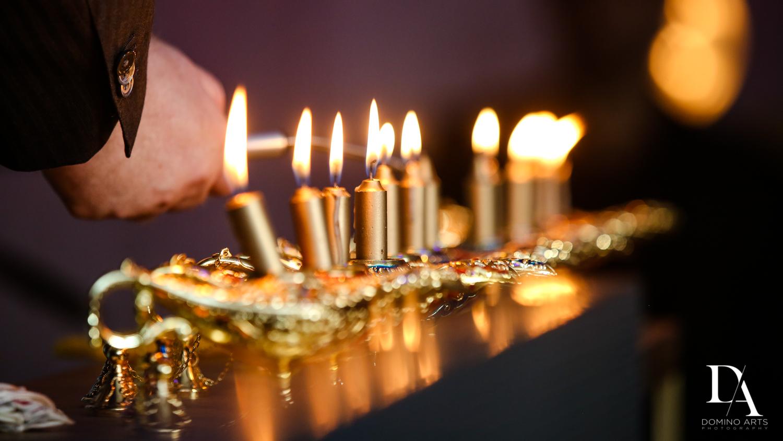 gold candles at Exotic Moroccan BNai Mitzvah at Lavan by Domino Arts Photography