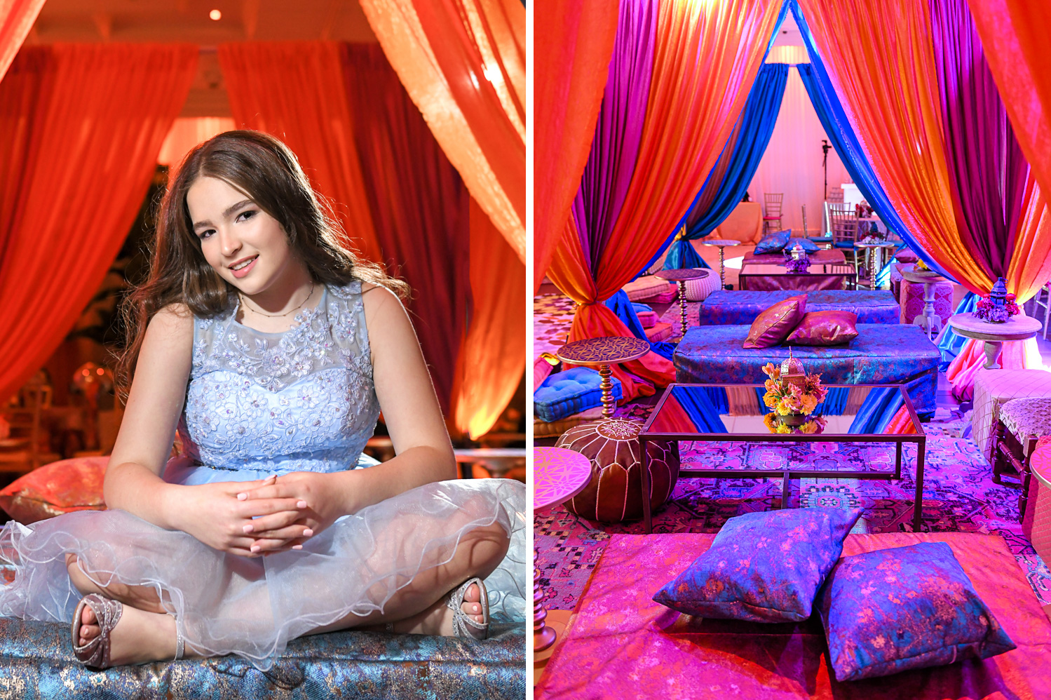 portraits and decor at Exotic Moroccan BNai Mitzvah at Lavan by Domino Arts Photography