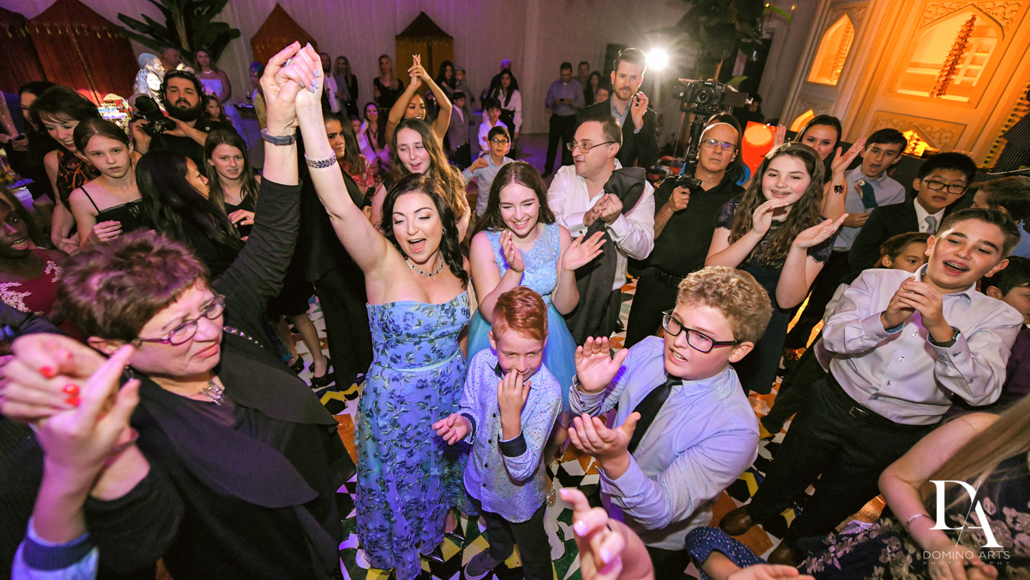 hora time at Exotic Moroccan BNai Mitzvah at Lavan by Domino Arts Photography