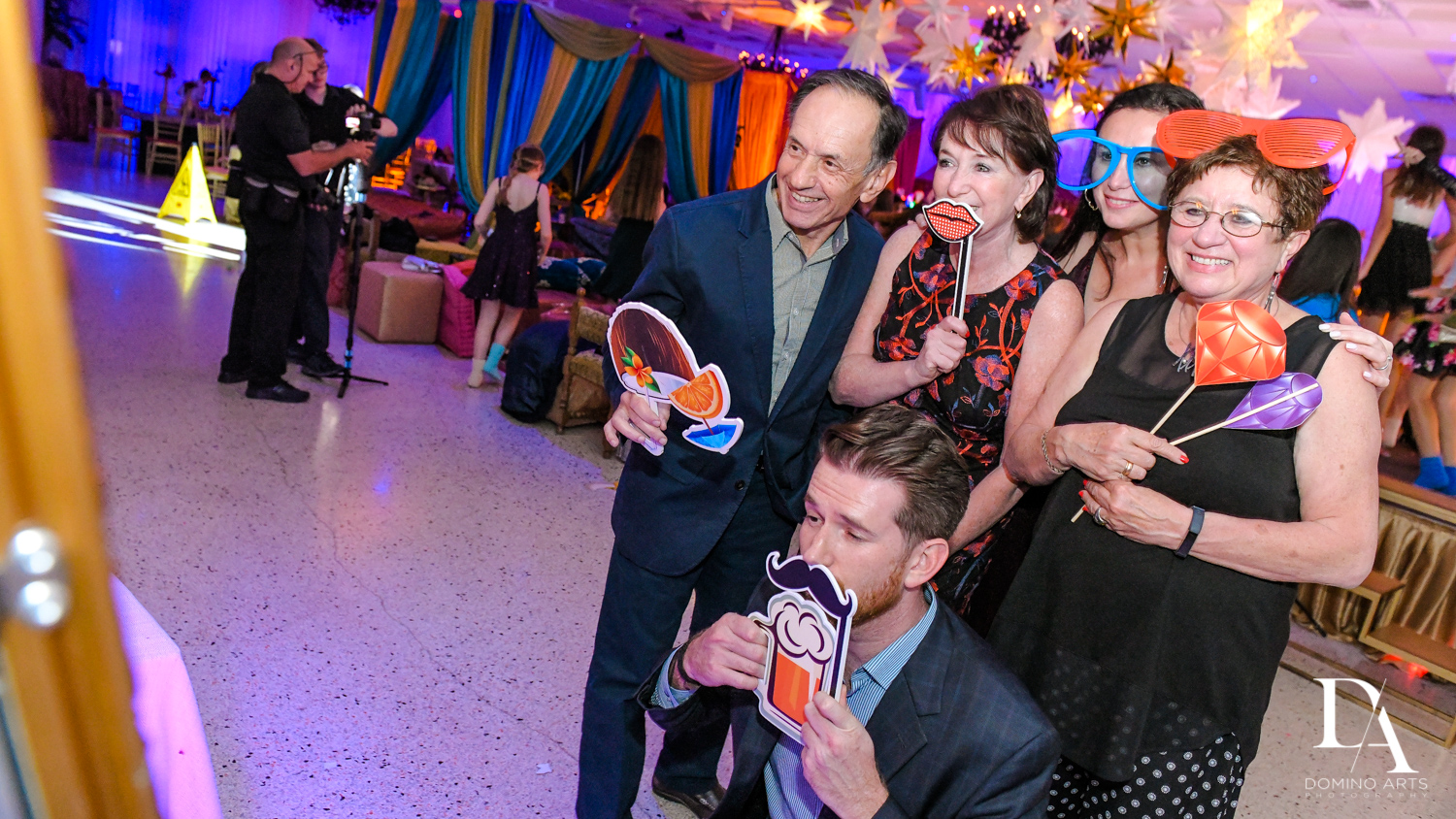 silly photo props at Exotic Moroccan BNai Mitzvah at Lavan by Domino Arts Photography