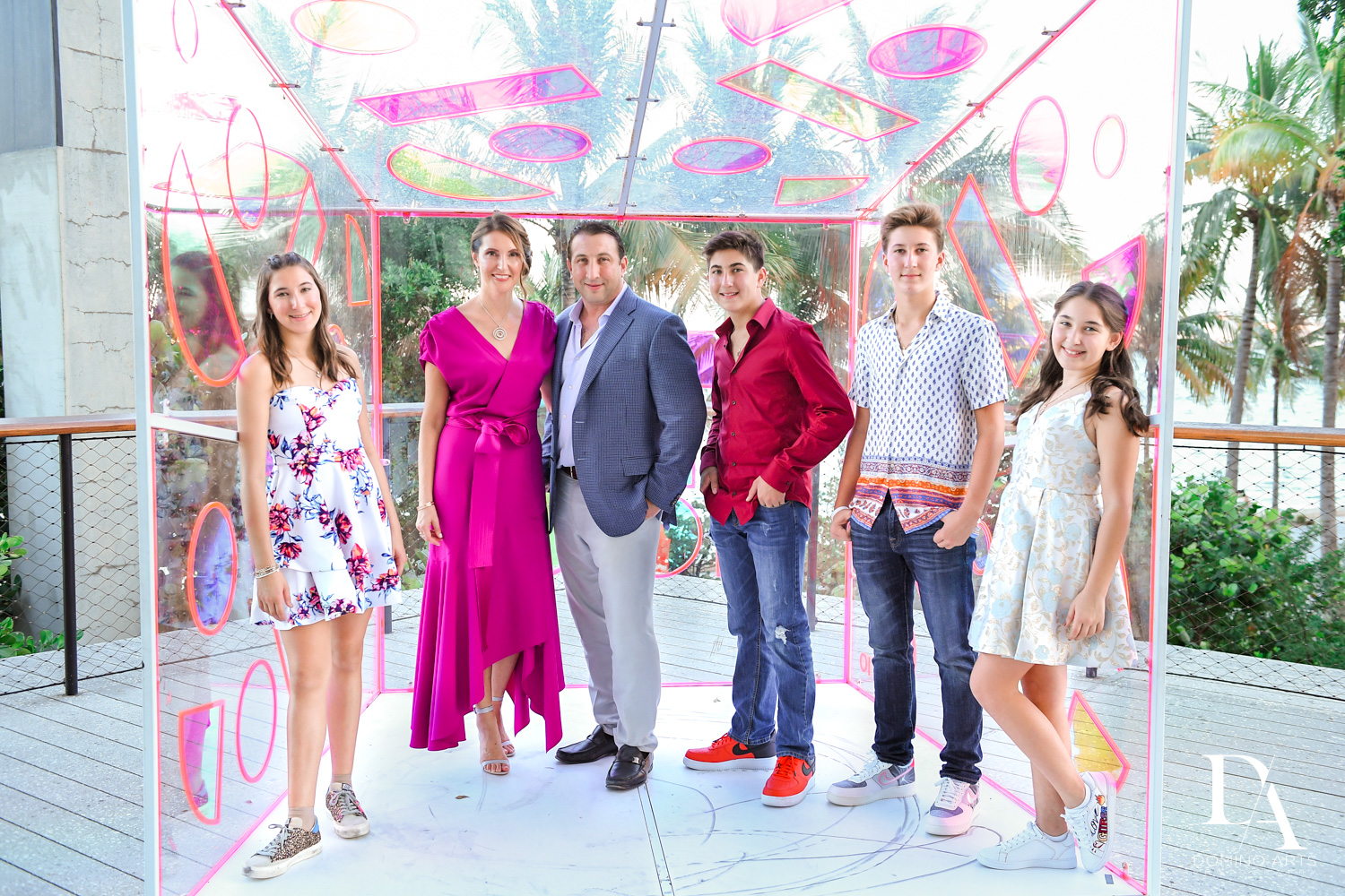 family at Fire & Ice B'Nai Mitzvah at Perez Art Museum Miami by Domino Arts Photography