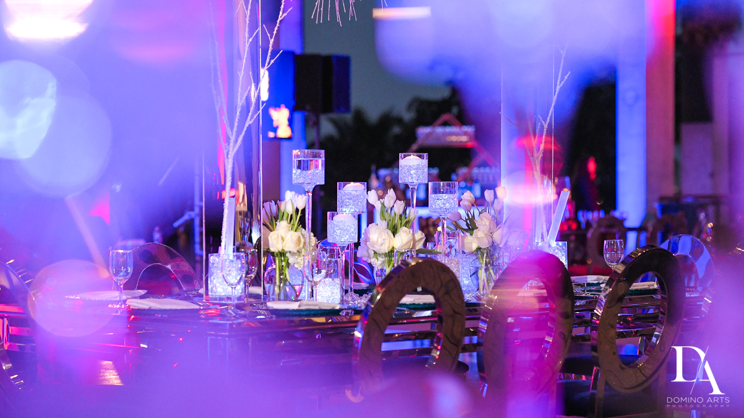 amazing decor at Fire & Ice B'Nai Mitzvah at Perez Art Museum Miami by Domino Arts Photography