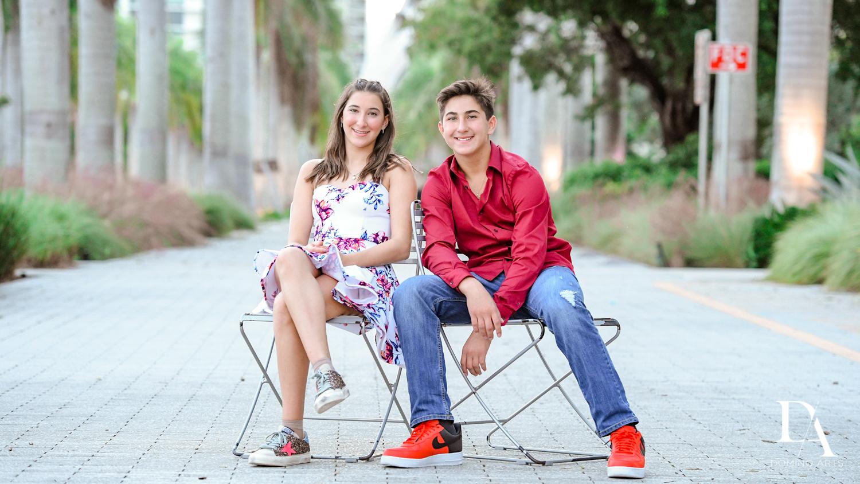 sibling at Fire & Ice B'Nai Mitzvah at Perez Art Museum Miami by Domino Arts Photography