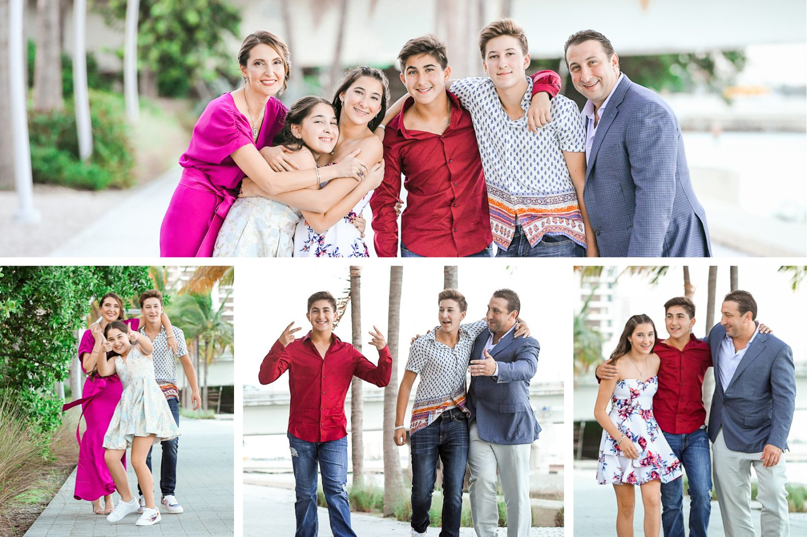 fun family portraits at Fire & Ice B'Nai Mitzvah at Perez Art Museum Miami by Domino Arts Photography