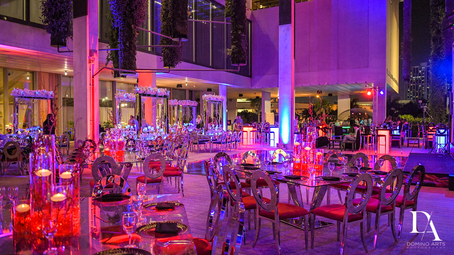 best decor at Fire & Ice B'Nai Mitzvah at Perez Art Museum Miami by Domino Arts Photography