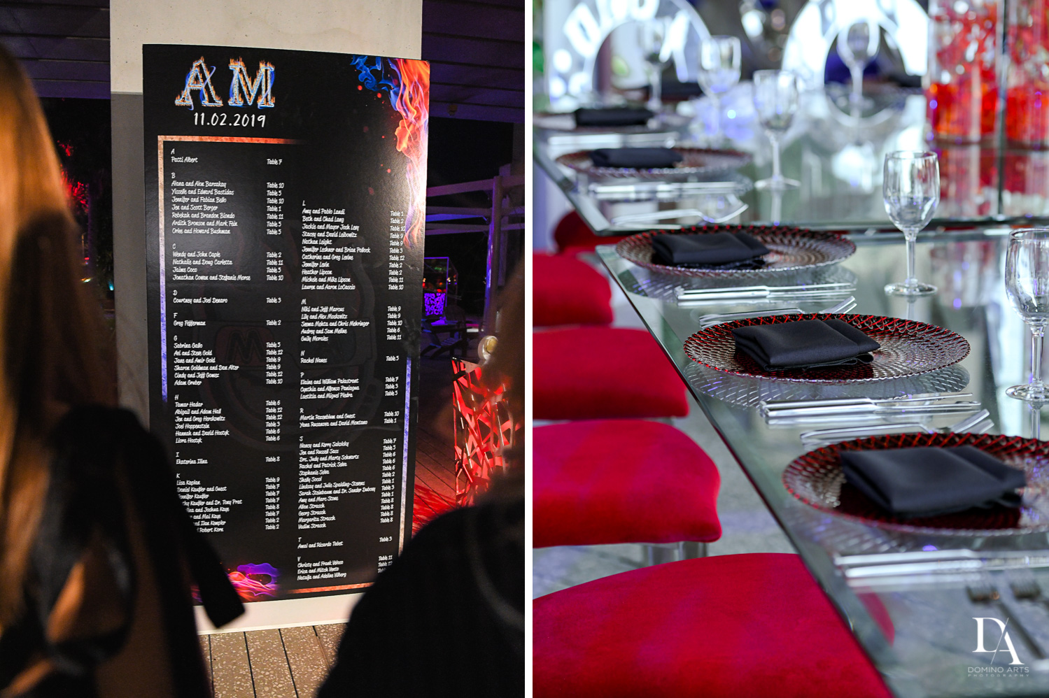 great decor at Fire & Ice B'Nai Mitzvah at Perez Art Museum Miami by Domino Arts Photography