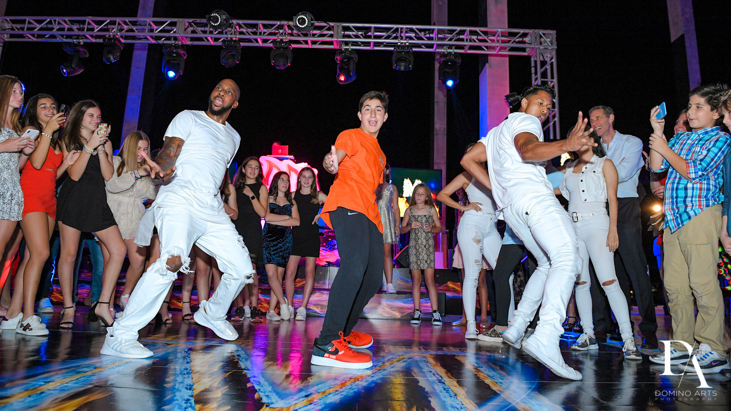 choreographed dance at Fire & Ice B'Nai Mitzvah at Perez Art Museum Miami by Domino Arts Photography