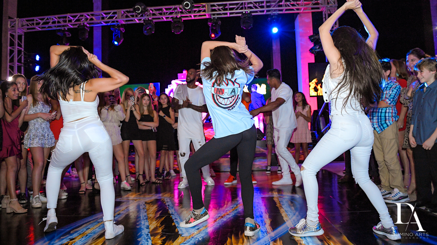 best dancers at Fire & Ice B'Nai Mitzvah at Perez Art Museum Miami by Domino Arts Photography