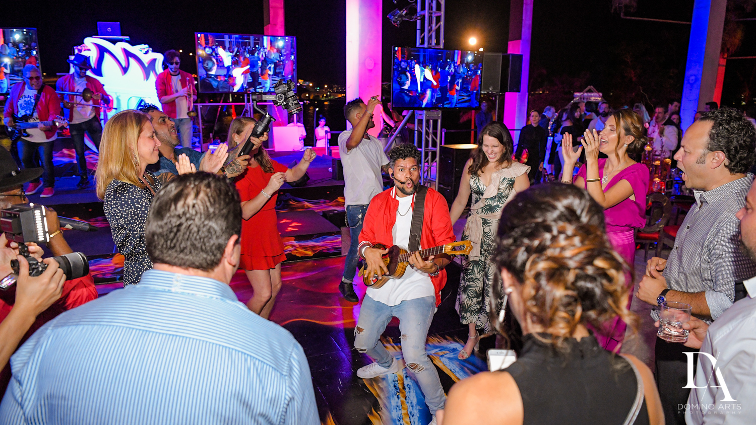live entertainment atFire & Ice B'Nai Mitzvah at Perez Art Museum Miami by Domino Arts Photography