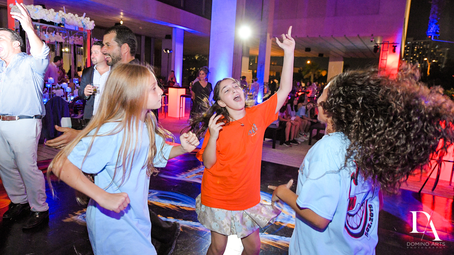 kids dancing at Fire & Ice B'Nai Mitzvah at Perez Art Museum Miami by Domino Arts Photography