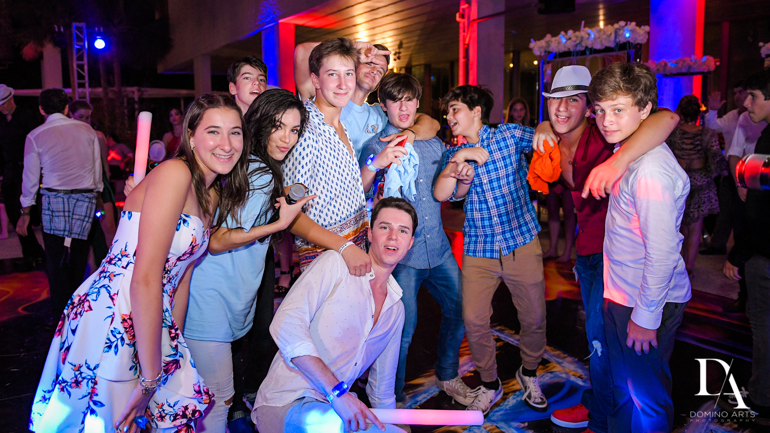 fun friends at Fire & Ice B'Nai Mitzvah at Perez Art Museum Miami by Domino Arts Photography