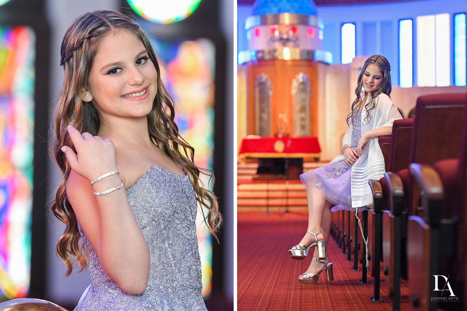 Thirteen at Traditional Jewish Bat Mitzvah at Aventura Turnberry Jewish Center Miami by Domino Arts Photography