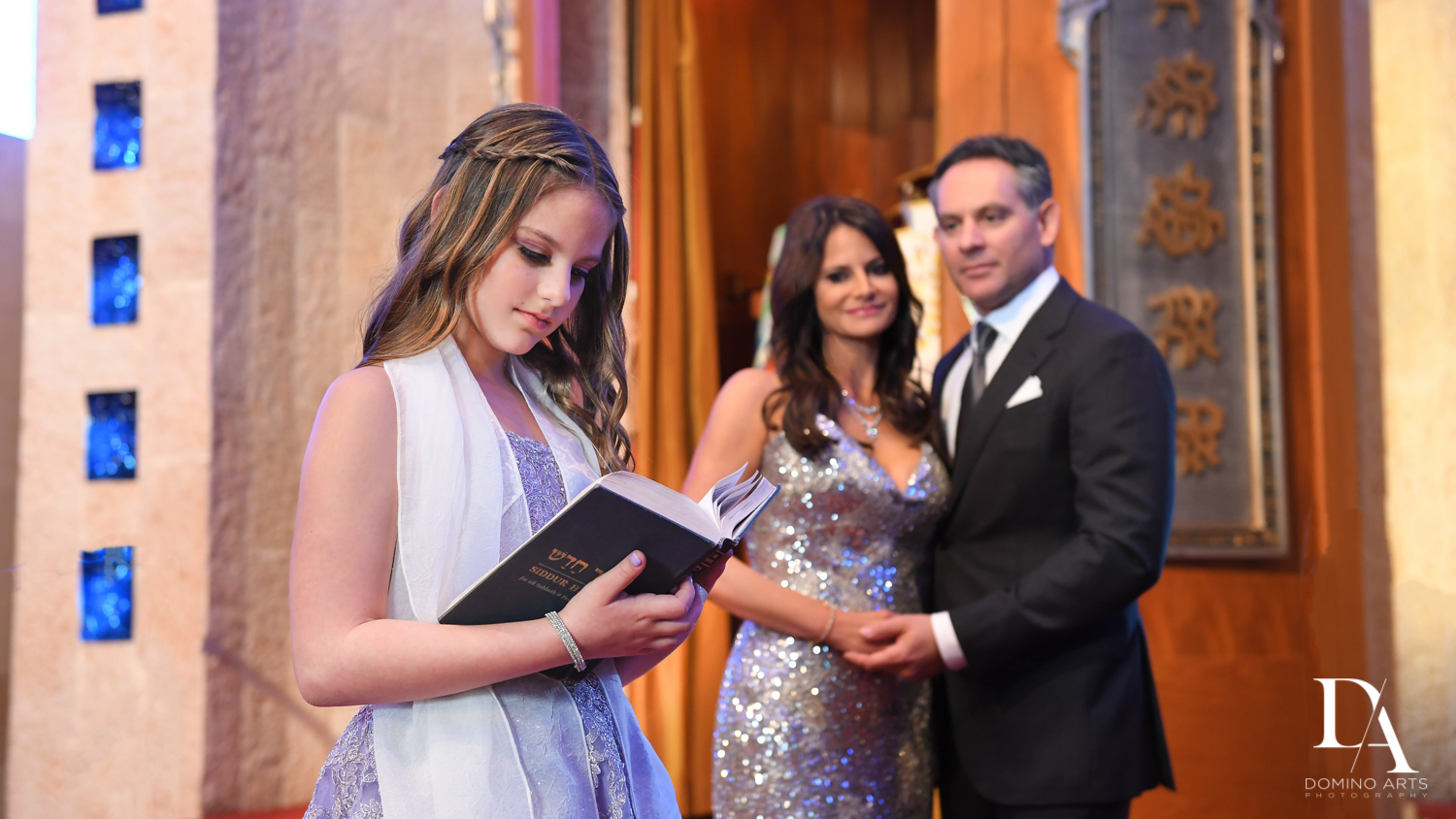 Reading Torah at Traditional Jewish Bat Mitzvah at Aventura Turnberry Jewish Center Miami by Domino Arts Photography