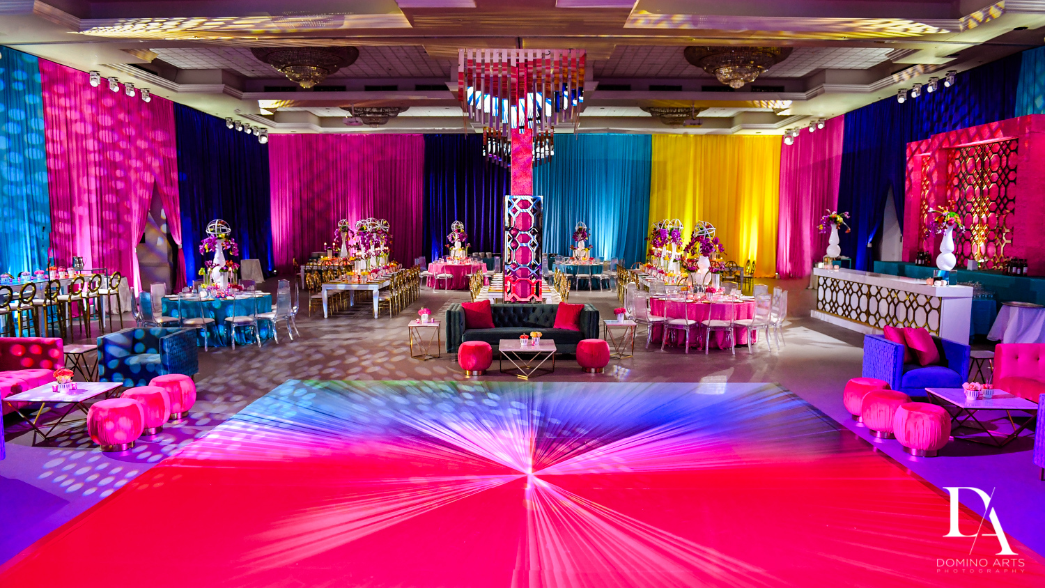 Colorful Rainbow BurstBat Mitzvah at Aventura Turnberry Jewish Center by Domino Arts Photography