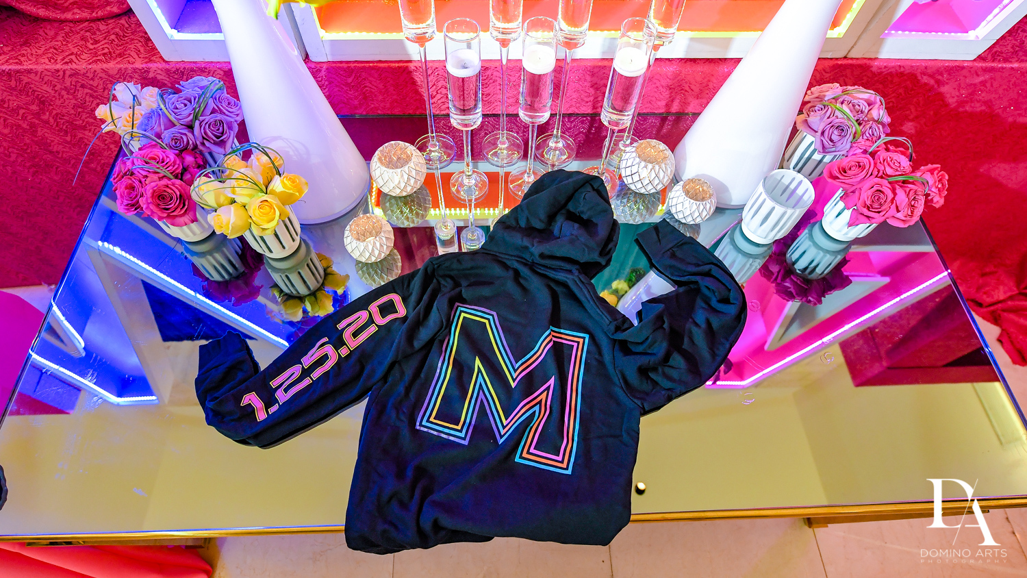 fun souvenirs at Colorful Rainbow BurstBat Mitzvah at Aventura Turnberry Jewish Center by Domino Arts Photography