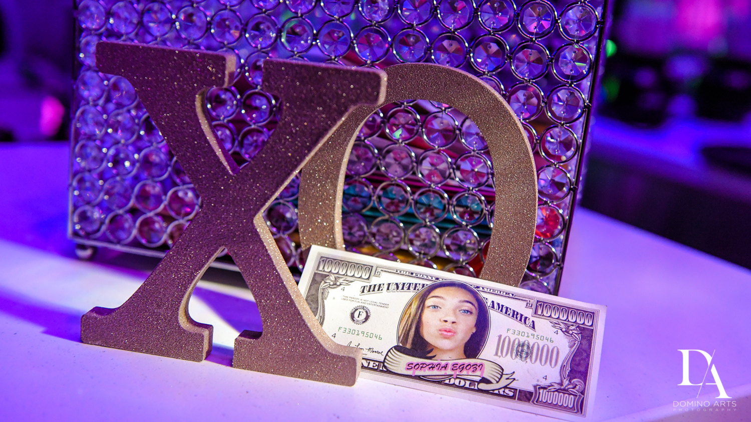 custom money at Pink XO Bat Mitzvah at The Venue Crystal Ballroom by Domino Arts Photography