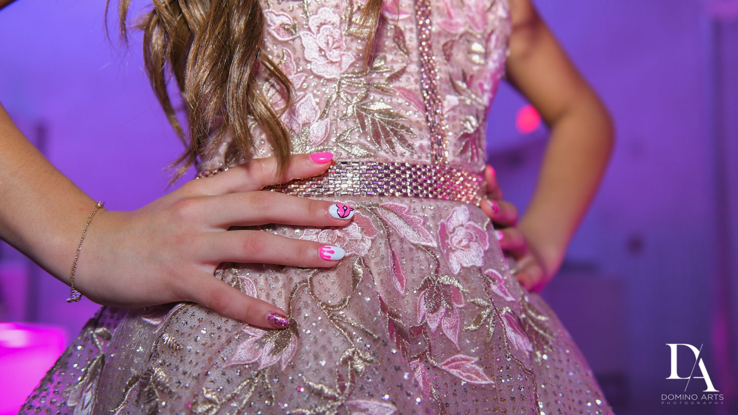details at Pink XO Bat Mitzvah at The Venue Crystal Ballroom by Domino Arts Photography