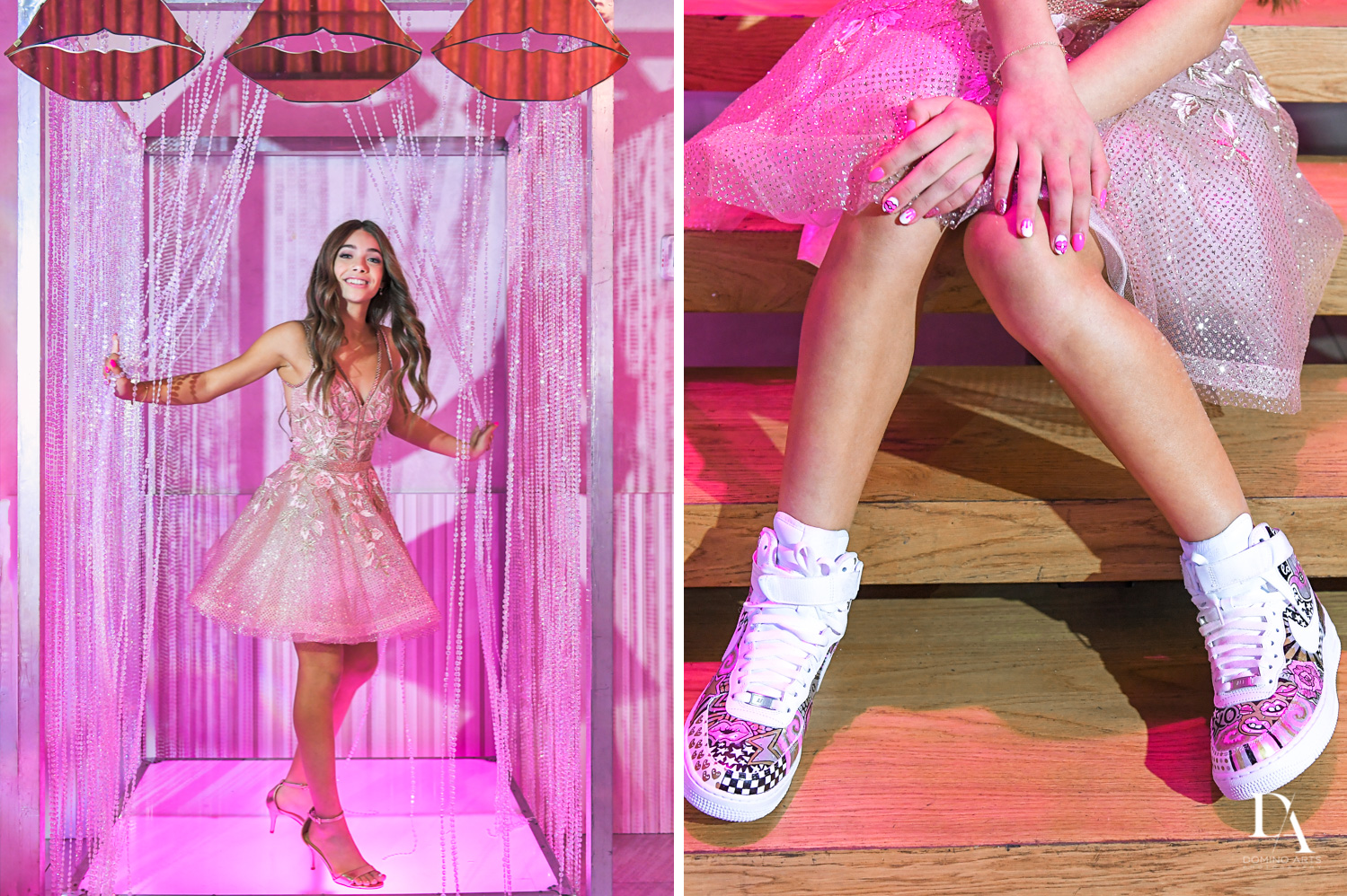 pink details at Pink XO Bat Mitzvah at The Venue Crystal Ballroom by Domino Arts Photography