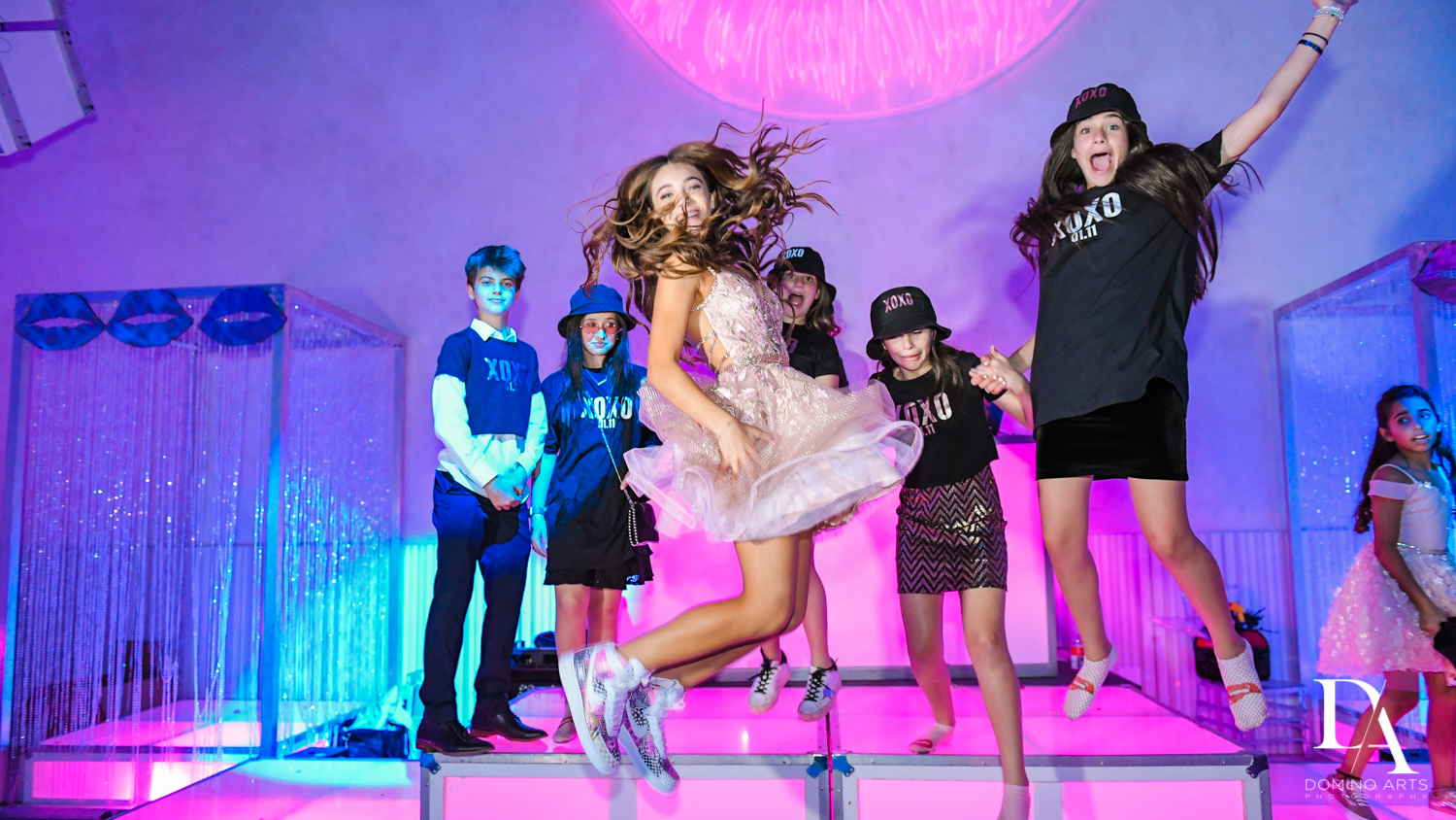 fun at Pink XO Bat Mitzvah at The Venue Crystal Ballroom by Domino Arts Photography