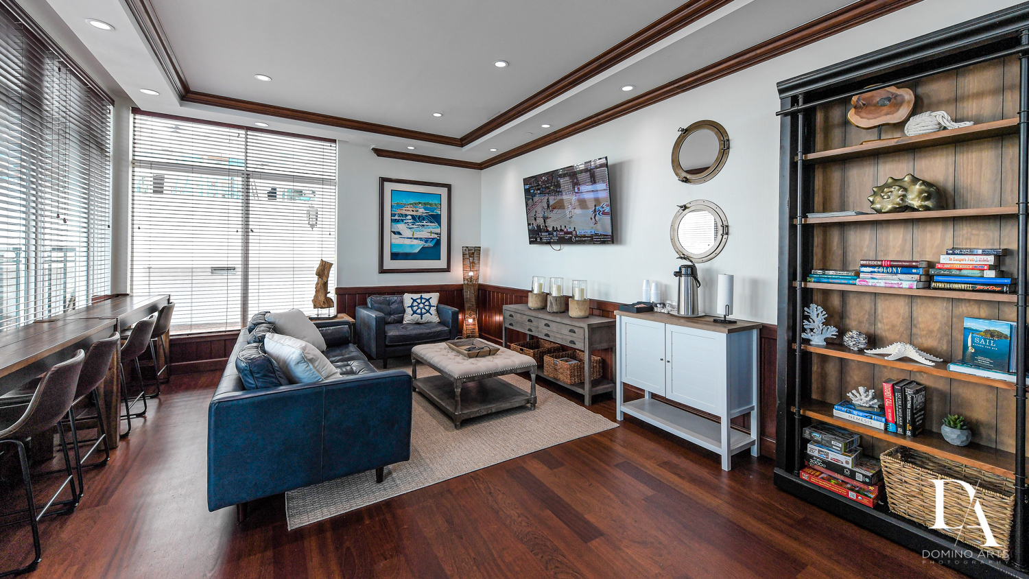 luxury changing rooms at Harborage Yacht Club & Marina by Domino Arts Photography