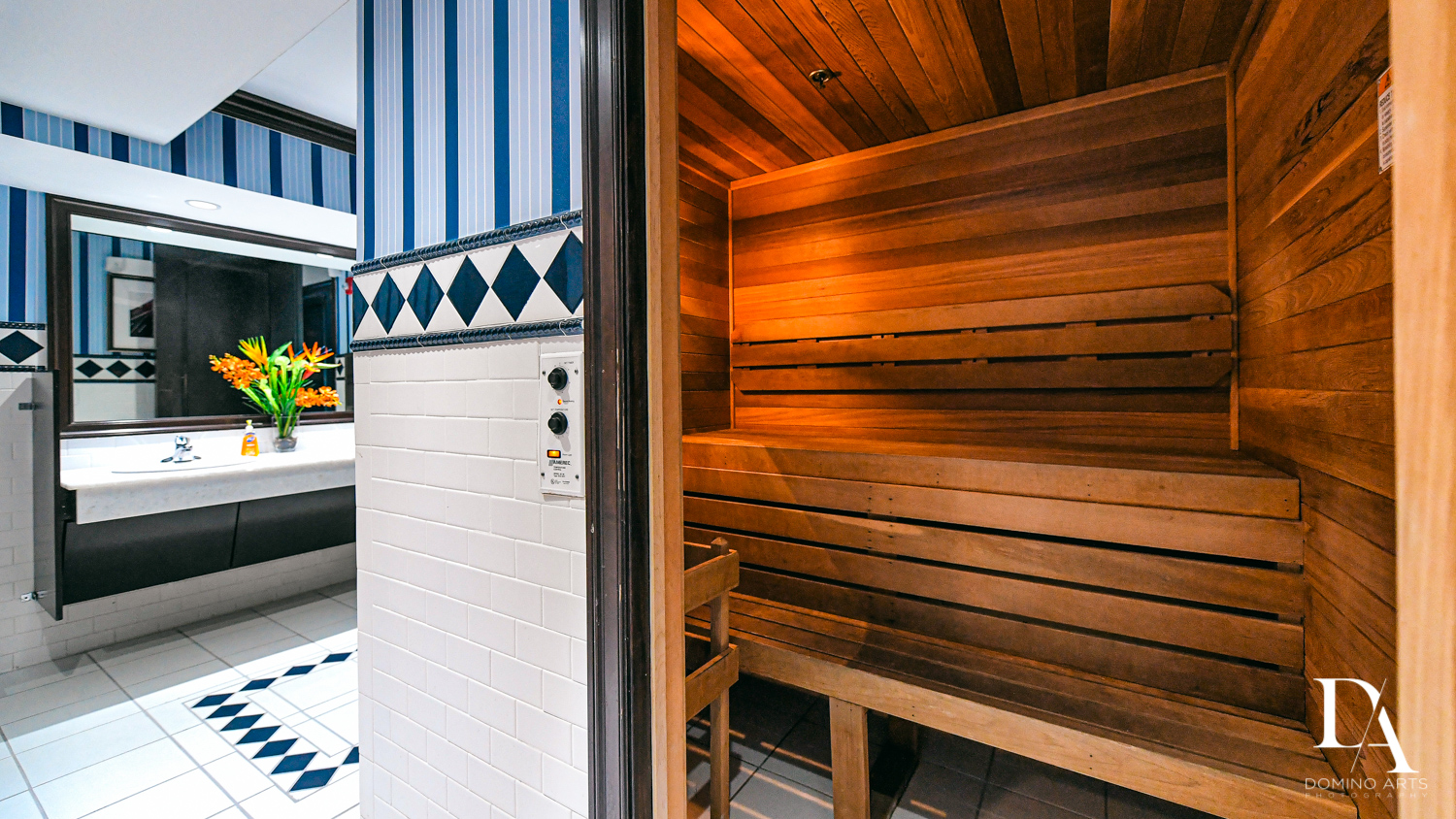 luxury sauna at Harborage Yacht Club & Marina by Domino Arts Photography