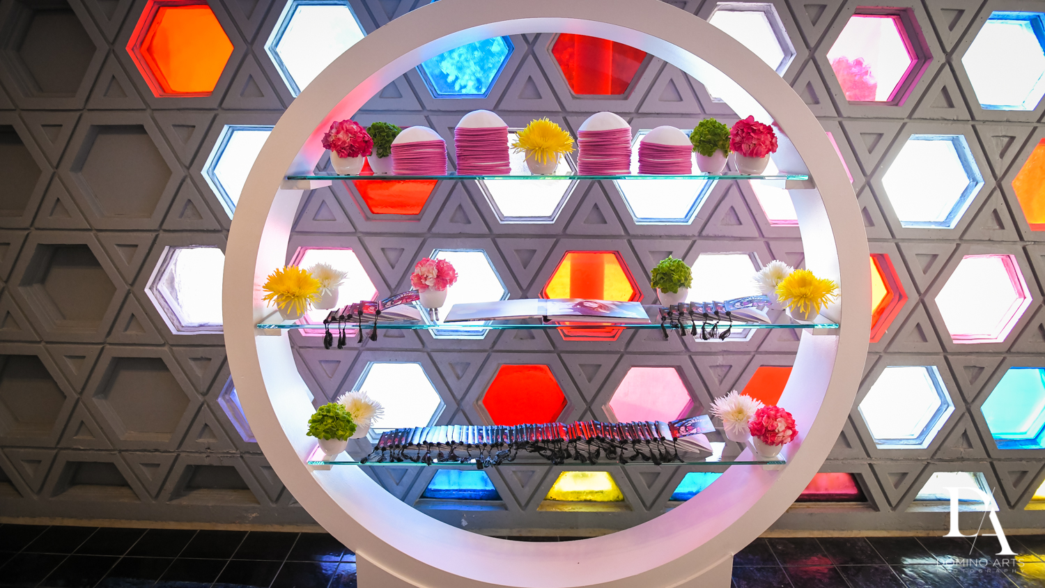 best temple decor at Music Festival Bat Mitzvah at The Fillmore Miami Beach by Domino Arts Photography