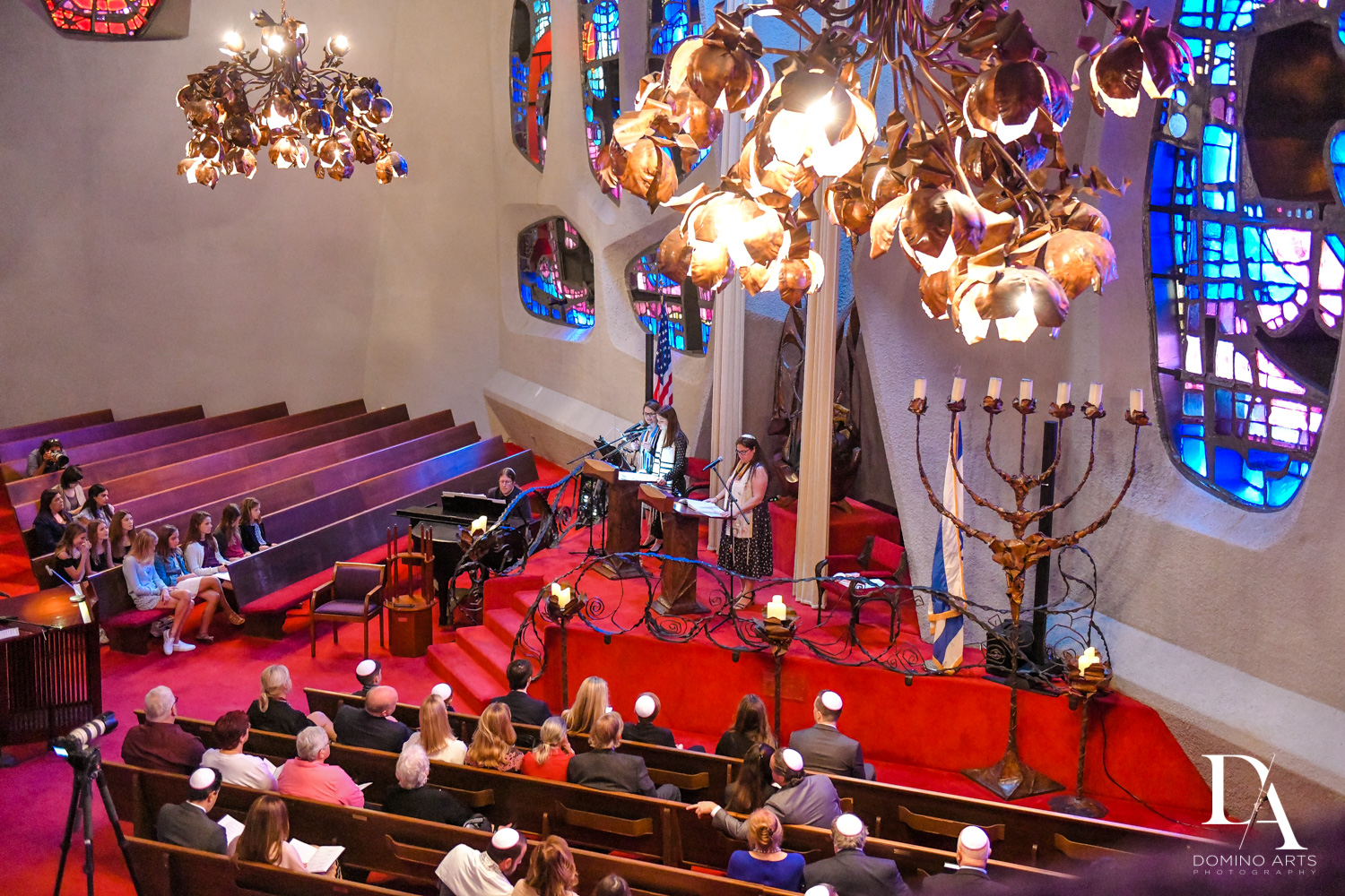 ceremony at Music Festival Bat Mitzvah at The Fillmore Miami Beach by Domino Arts Photography