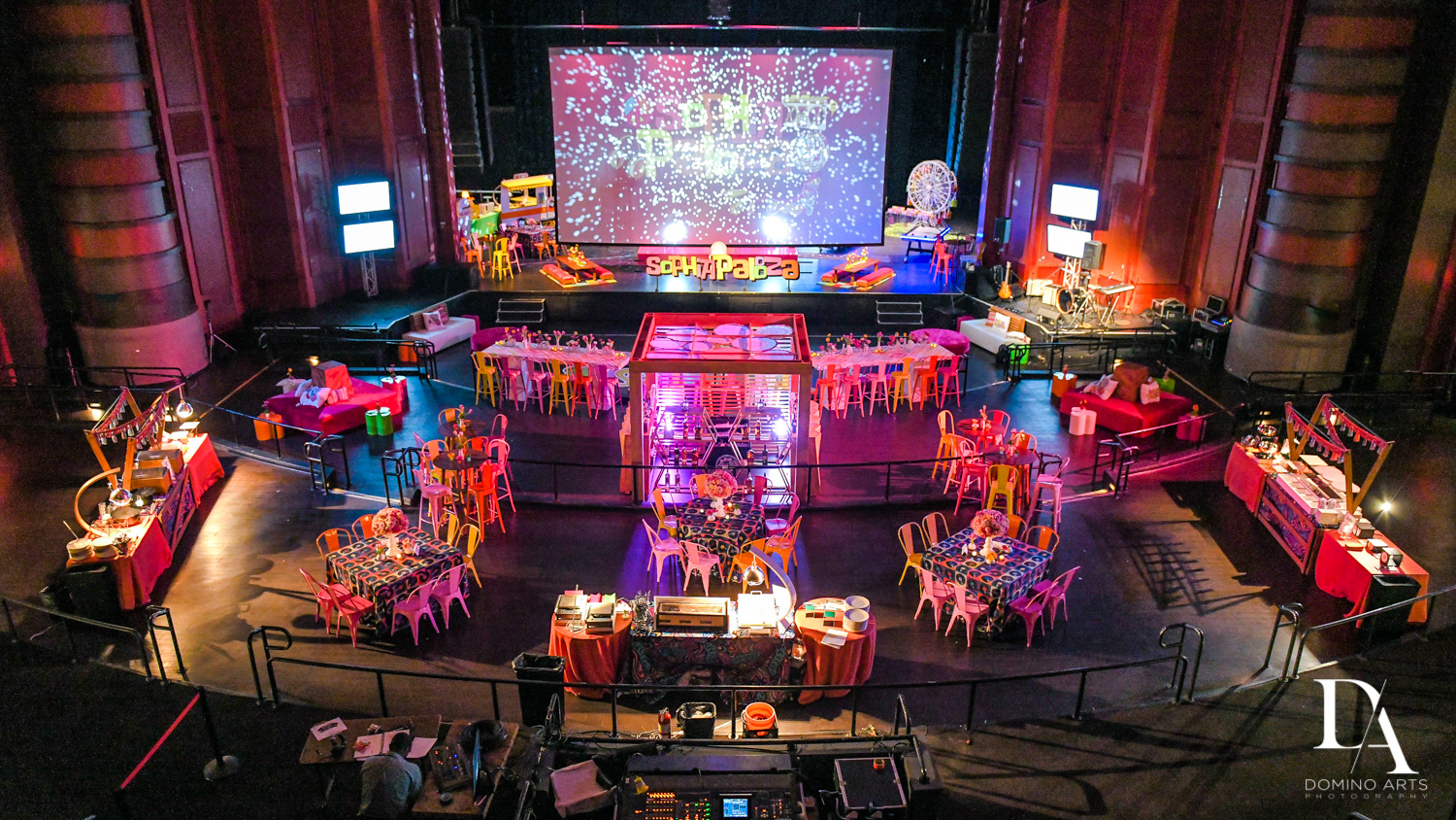 best mitzvah decor at Music Festival Bat Mitzvah at The Fillmore Miami Beach by Domino Arts Photography