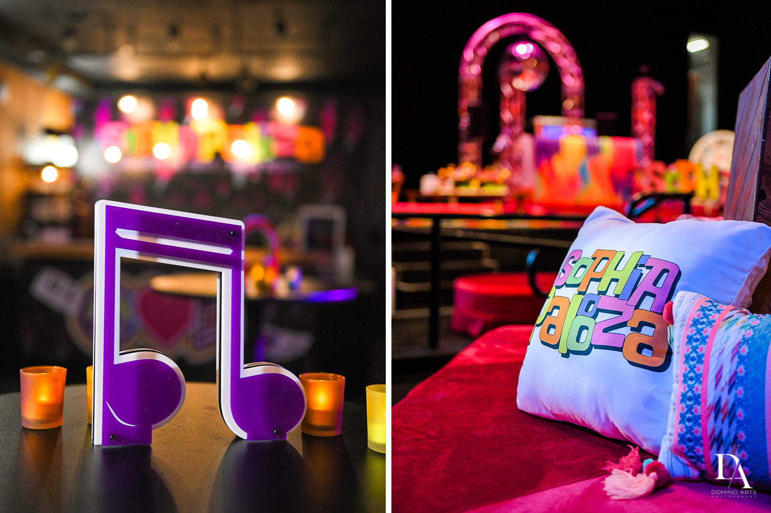 decor details at Music Festival Bat Mitzvah at The Fillmore Miami Beach by Domino Arts Photography