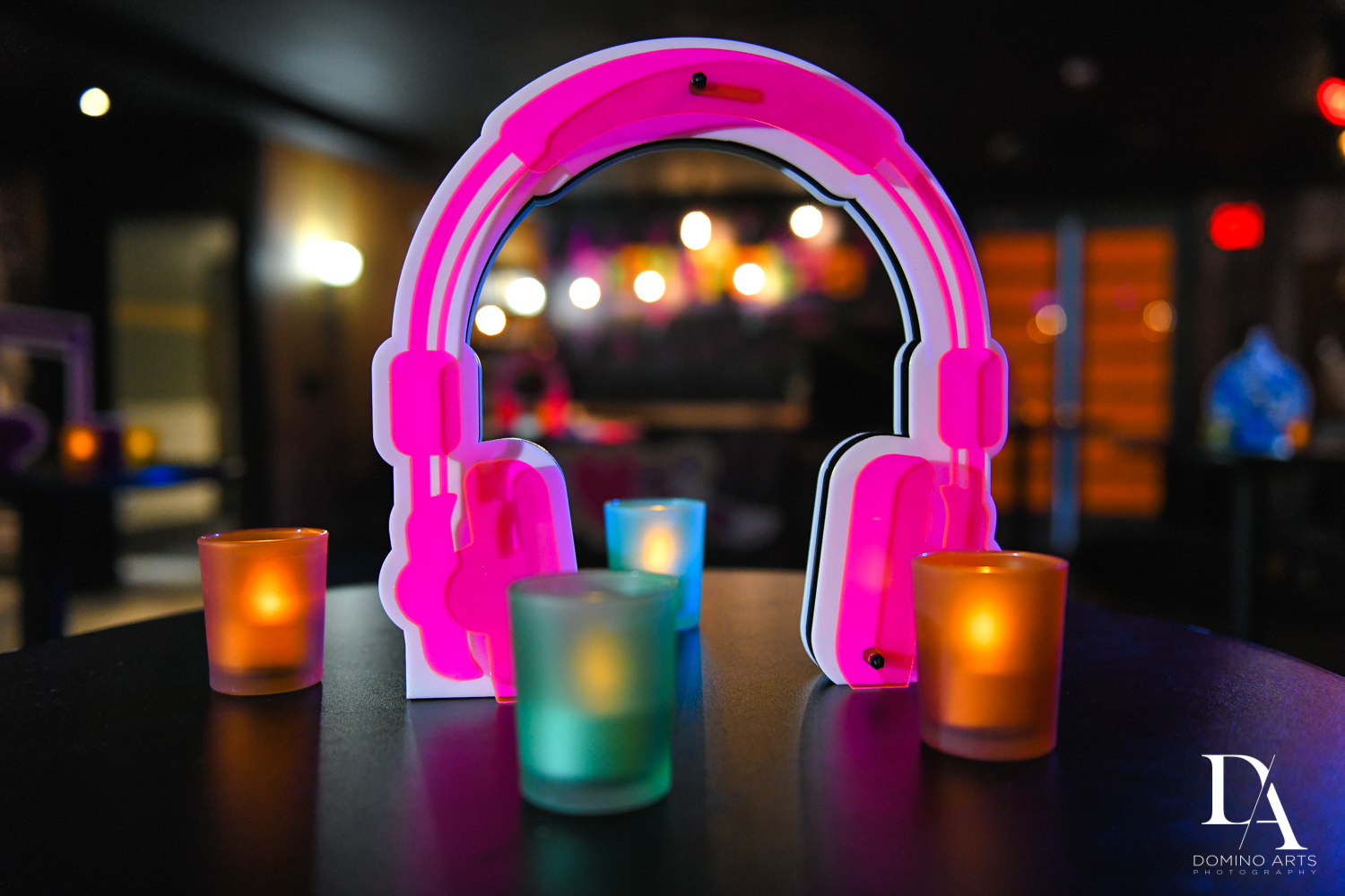 headphones and lights at Music Festival Bat Mitzvah at The Fillmore Miami Beach by Domino Arts Photography