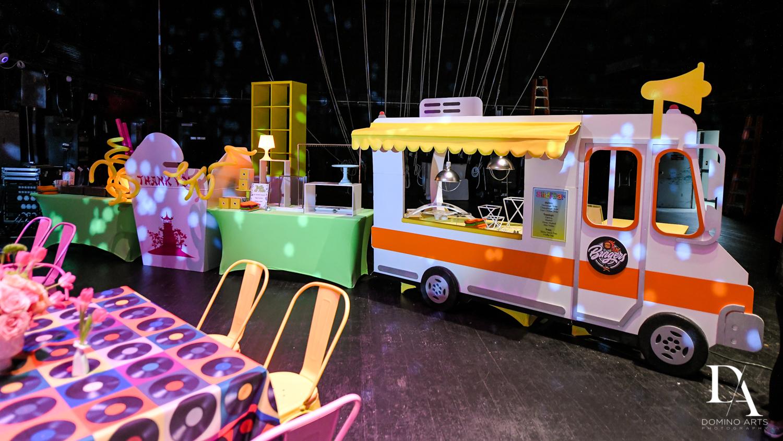 food trucks at Music Festival Bat Mitzvah at The Fillmore Miami Beach by Domino Arts Photography