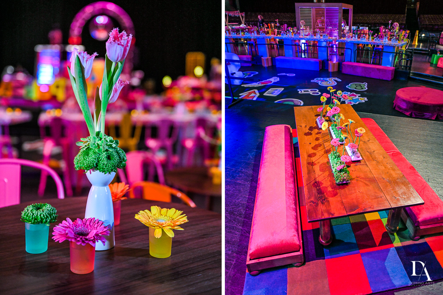 best luxury decor at Music Festival Bat Mitzvah at The Fillmore Miami Beach by Domino Arts Photography