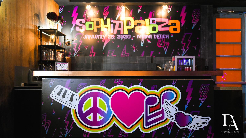 custom bar at Music Festival Bat Mitzvah at The Fillmore Miami Beach by Domino Arts Photography