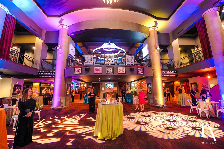 lobby decor at Music Festival Bat Mitzvah at The Fillmore Miami Beach by Domino Arts Photography