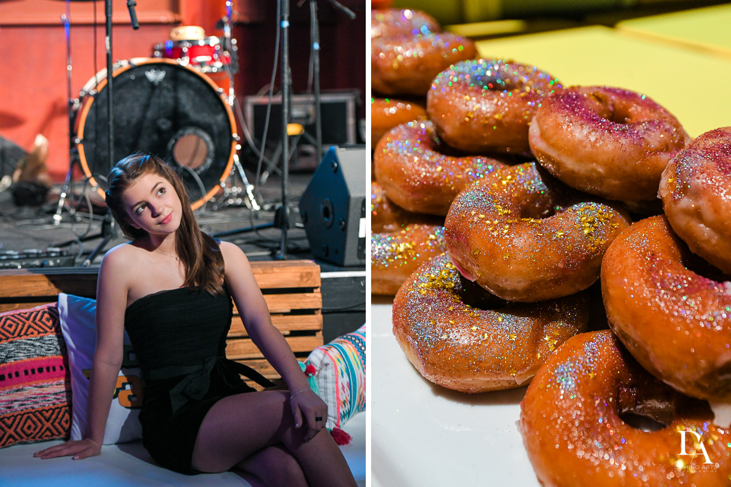 colorful donuts at Music Festival Bat Mitzvah at The Fillmore Miami Beach by Domino Arts Photography