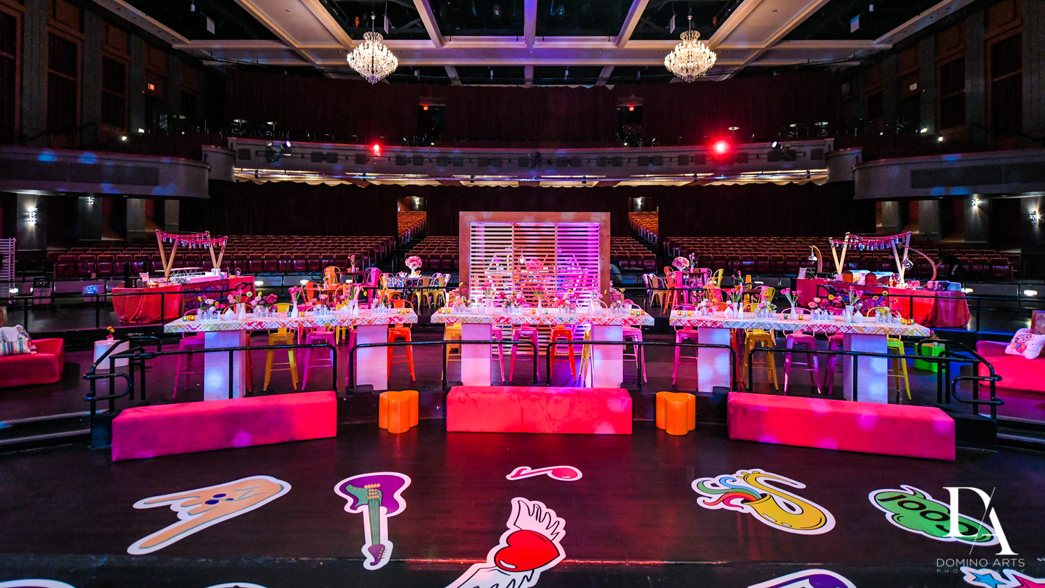 music decor at Music Festival Bat Mitzvah at The Fillmore Miami Beach by Domino Arts Photography