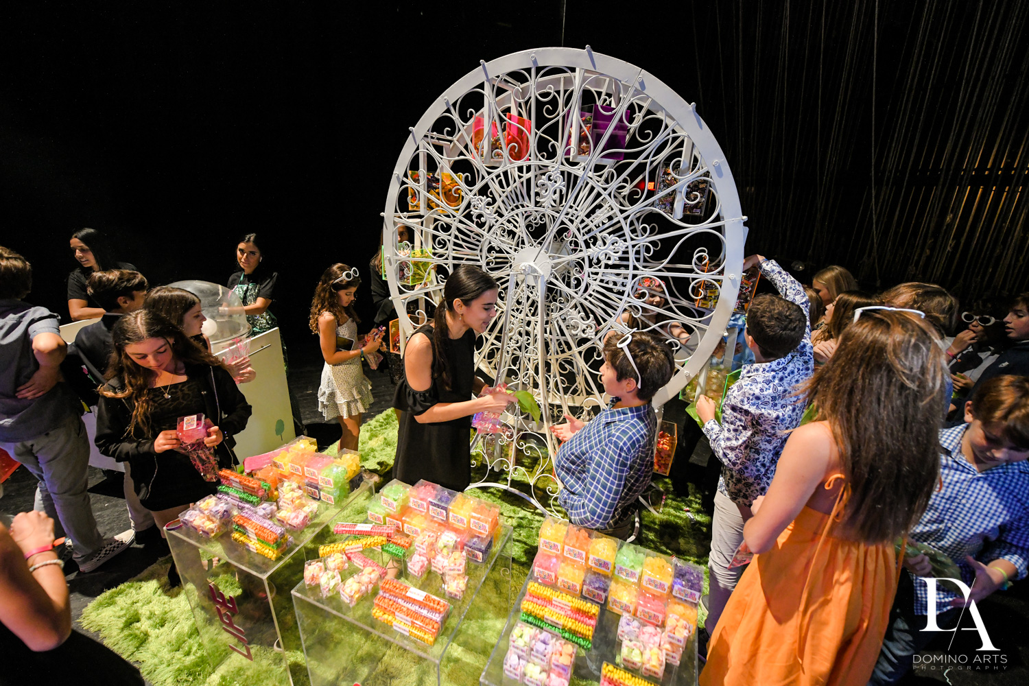 candy ferris wheel at Music Festival Bat Mitzvah at The Fillmore Miami Beach by Domino Arts Photography
