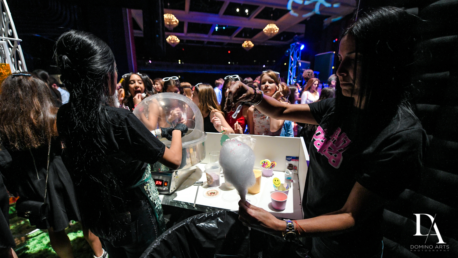glow cotton candy at Music Festival Bat Mitzvah at The Fillmore Miami Beach by Domino Arts Photography
