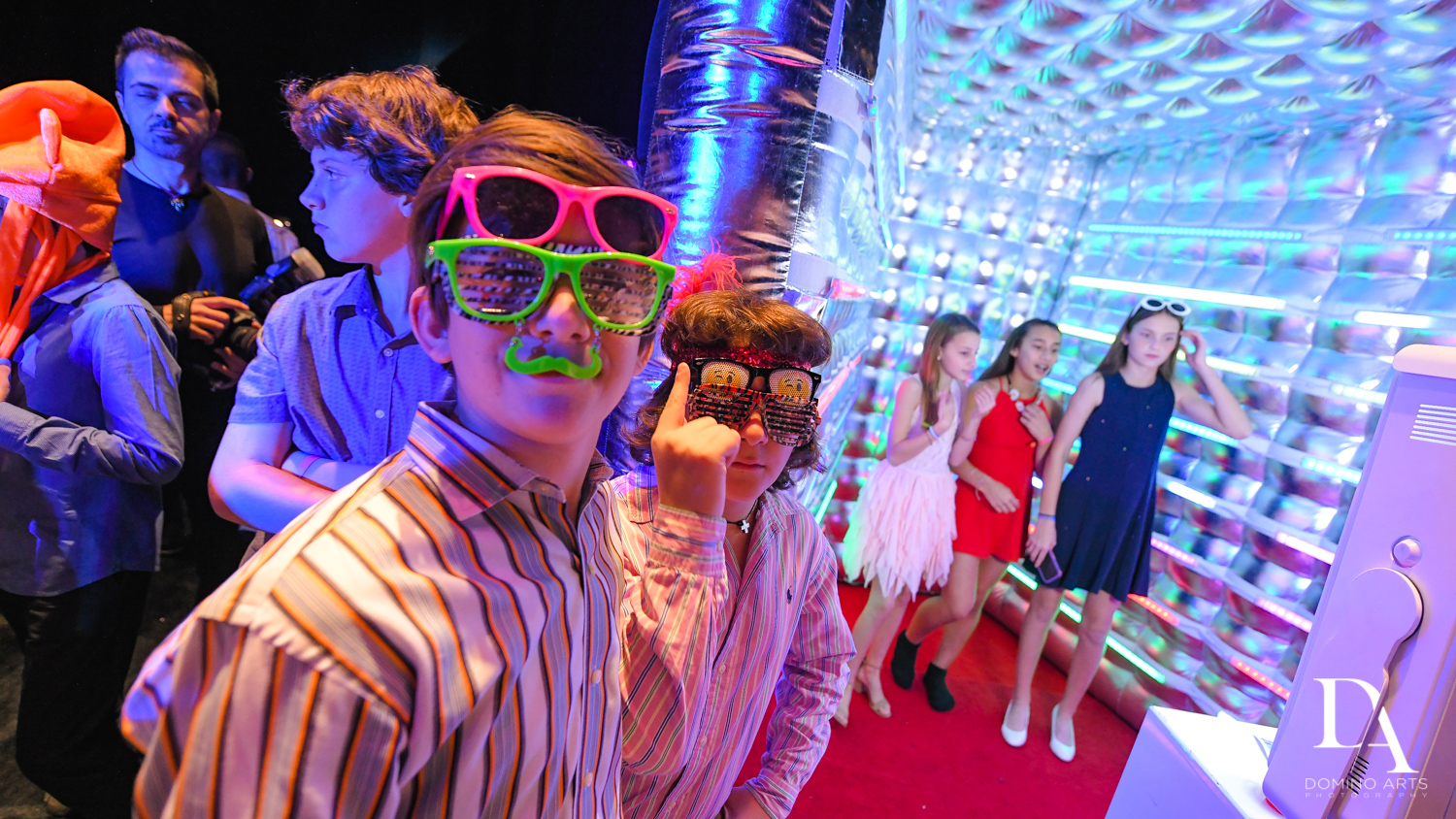 fun party favors at Music Festival Bat Mitzvah at The Fillmore Miami Beach by Domino Arts Photography